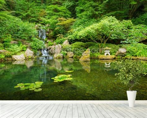 japanese garden walls beautiful japanese garden wallpaper wall mural wallsauce