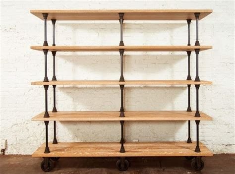 diy free standing shelves appealing oak and iron rolling shelving unit driveway