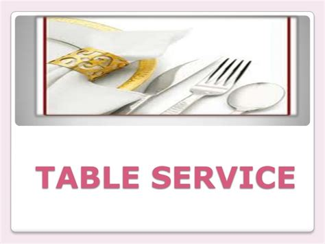 table service definition table service