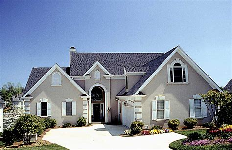 architectural design house plans stucco european 17628lv architectural designs house plans