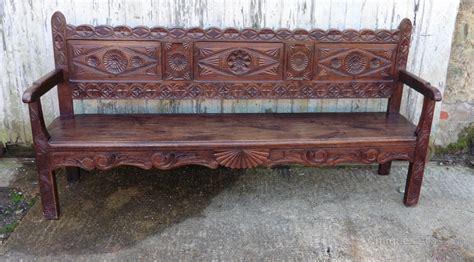 oak settle bench very long french carved oak bench settle antiques atlas