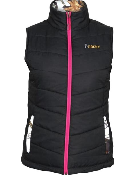black quilted vest rocky western vest womens quilted insulated full zip black