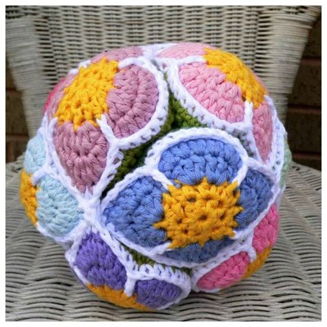 amish crochet patterns puzzelbal haken pinterest flower ball amish and
