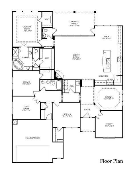 large 1 story house plans large one story floor plan great layout the flow
