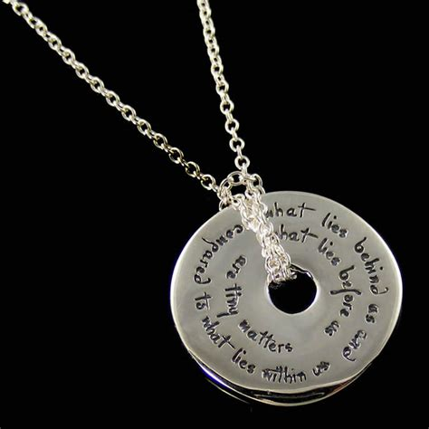 What Lies Us And What Lies Before Us Necklace