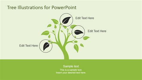 tree illustration diagrams for powerpoint slidemodel