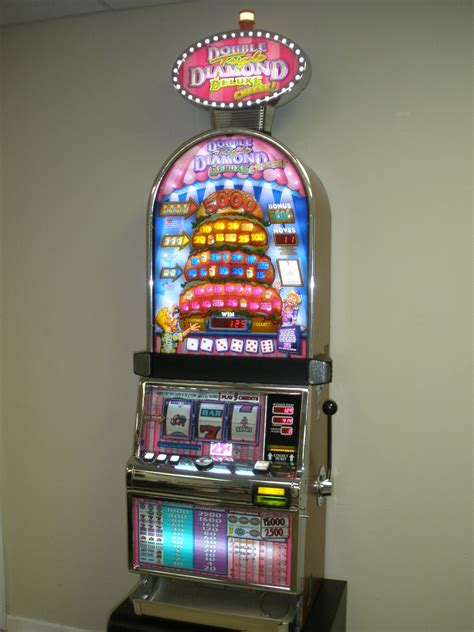 igt triple double diamond deluxe  cheese barcrest  slot machine  lighted topper