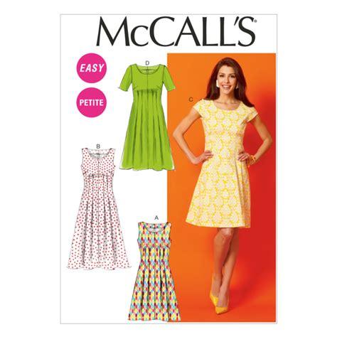 pattern in dress mccall s misses miss petite women s women s petite