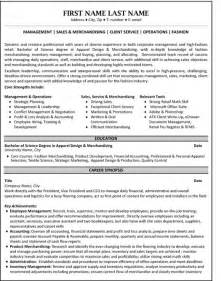 Fashion Sales Manager Sle Resume by Top Purchasing Resume Templates Sles