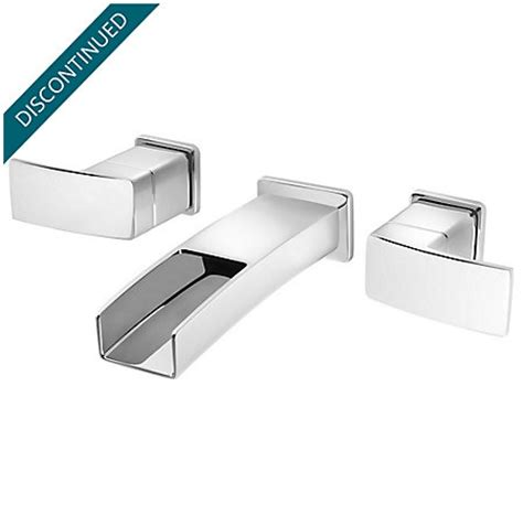 price pfister wall mount kitchen faucet polished chrome kenzo wall mount widespread trough bath