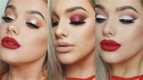what looks good with red make up for a red dress 3 ideas rachel leary youtube