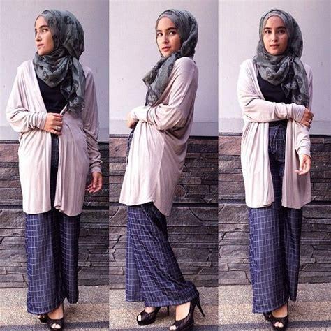 Kulot Hits Muslim Modern fashion dengan kulot trend fashion