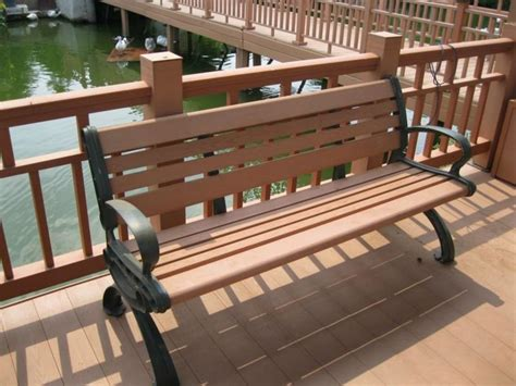 composite outdoor benches cheap high quality wood plastic composite wpc garden bench