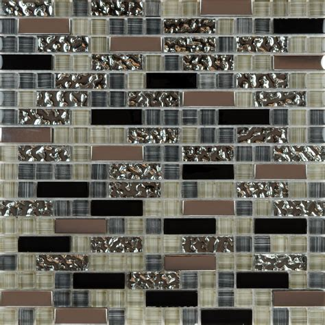 Cheap Glass Tiles For Kitchen Backsplashes Metal And Glass Tile Backsplash Cheap Kitchen Mosaic Wall Zyouhoukan