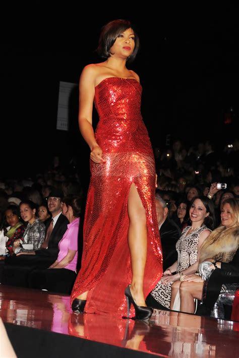 taraji p henson red dress taraji p henson in heart truth s red dress fall 2011