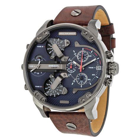 diesel dual time chronograph blue