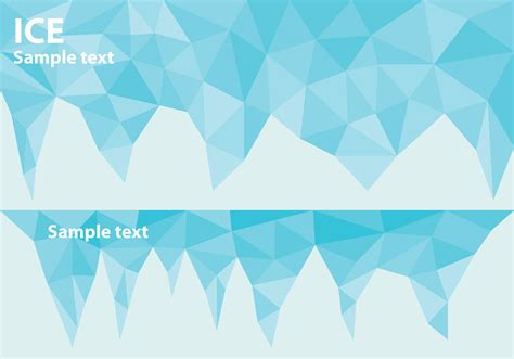 ice title banners   vector art stock