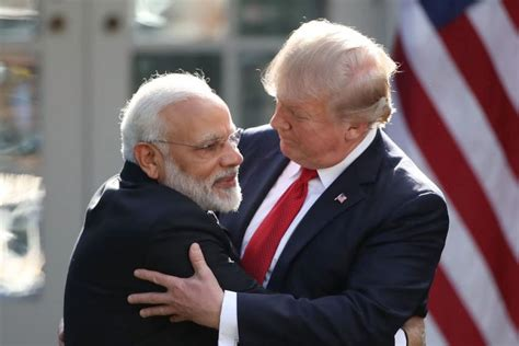 donald trump visit to india watch india s p m modi evade trump s power handshake with