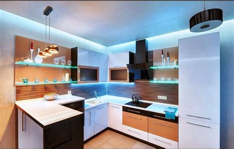 l shaped kitchen layout with best ceiling paint color ideas with wall shelf and drum lights