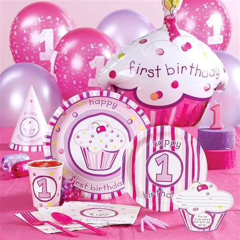 Party decorations baby girl first birthday party theme car tuning