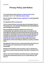 Free Website Privacy Policy Template Gdpr Compliant Free Gdpr Compliant Privacy Policy Template