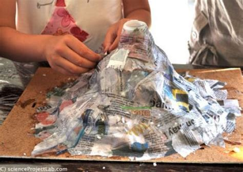 How To Make A Volcano Out Of Paper - how to make a paper mache volcano ehow autos post
