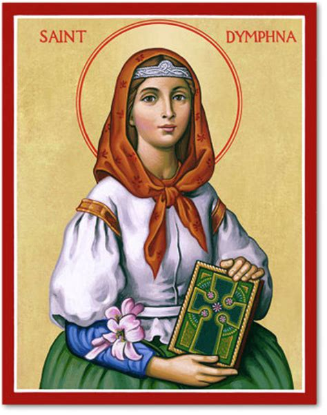 Crosses Home Decor by Women Saints Saint Dymphna Icon Monastery Icons