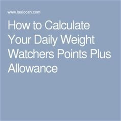 how to calculate your weight watchers points zero one weight watchers smartpoints snacks list tasty