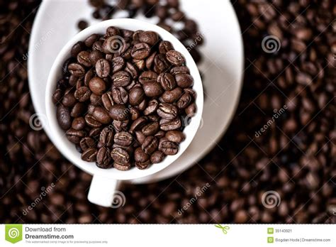 Black Coffee Aromatic black strong aromatic bio coffee beans in a