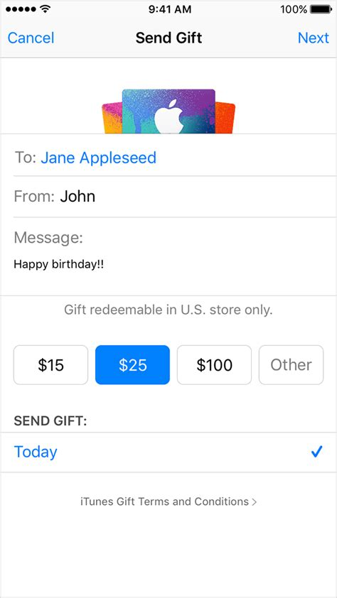 What Can You Buy With A Itunes Gift Card - send itunes gifts via email apple support