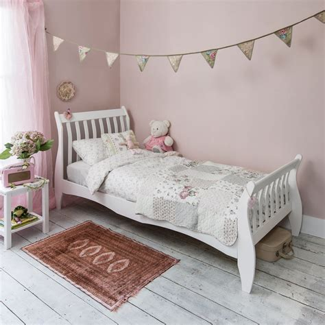 White Single Sleigh Bed Astrid Sleigh Single Bed In White Noa Nani