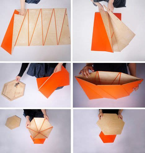 Origami Folding Furniture - aside from putting together those ikea bookcases when was