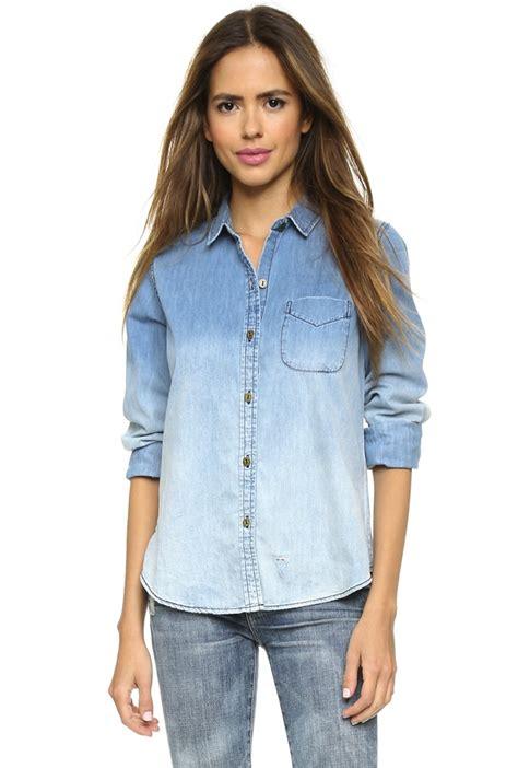10 Summer Ready Denim Shirts For Women The Jeans Blog Womens Denim Dress