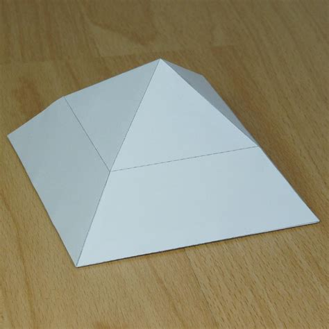 A Paper Pyramid - how to make paper bent pyramid invitations ideas
