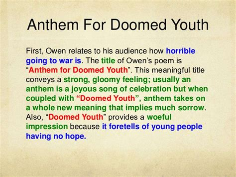 libro anthem for doomed youth anthem for doomed youth analysis