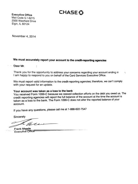Goodwill Credit Letter Sle Still Reporting Balance After Issuing 1099c Myfico 174 Forums