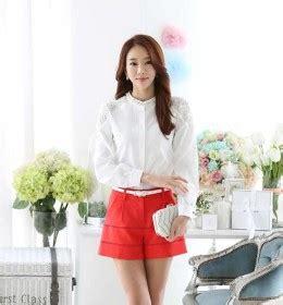 Blouse Brukat Putih Import kemeja wanita lengan panjang modern 2014 model terbaru jual murah import kerja