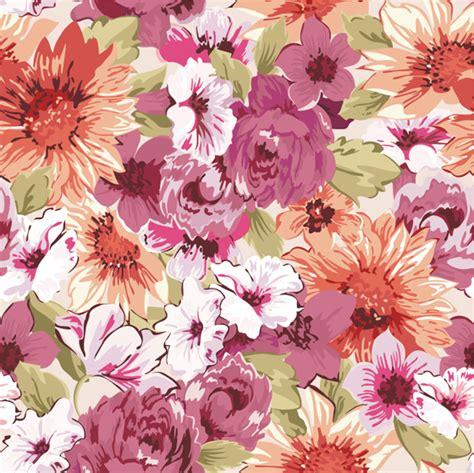 flower pattern x hand drawn retro flower pattern vector vector flower