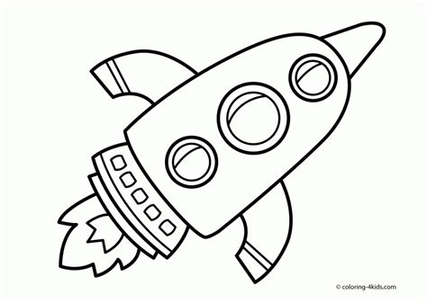 rocket ship outline coloring home