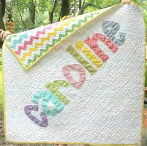 Cus Quilts by Personalized Name Quilt Appliqued Quilt By Demossdesigns