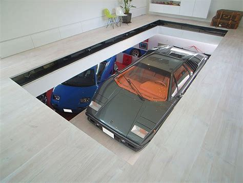 Garage For Cars by House With 9 Cars Garage And Lamborghini In The Living