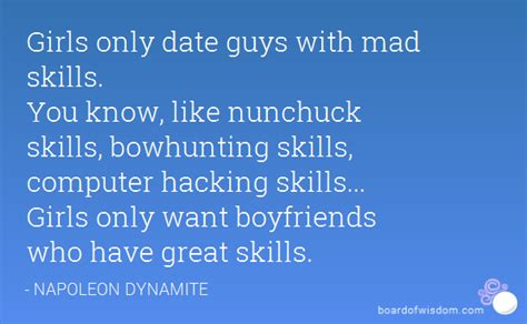 only date guys with mad skills you like nunchuck skills bowhunting skills
