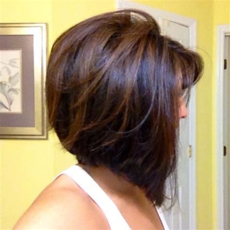 short hair cuts with dark brown color with carmel highlights short dark brown hair with highlights hairstyle for