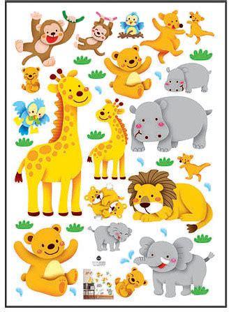 imagenes de jirafas para ninos elefante le 243 n mono jirafa pegatinas de dibujos animados