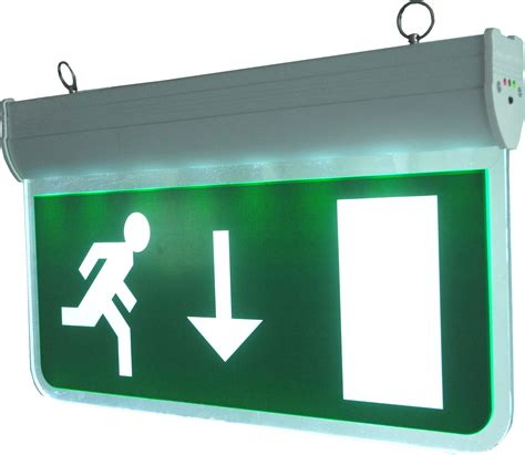 exit signs with emergency lights led emergency exit sign blade