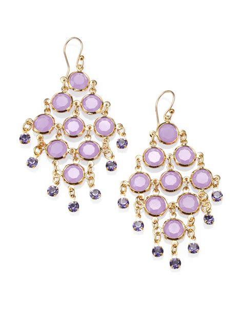 Kate Spade Chandelier Earrings Kate Spade Faceted Chandelier Earrings In Purple Gold Lyst