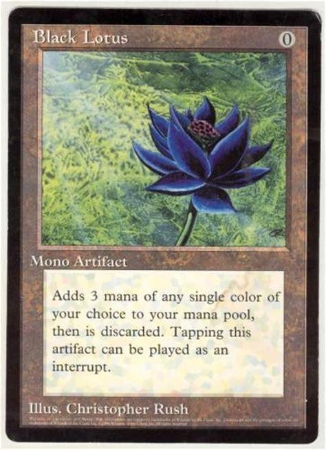 black lotus magic the gathering promo single black lotus 6x9 nm da