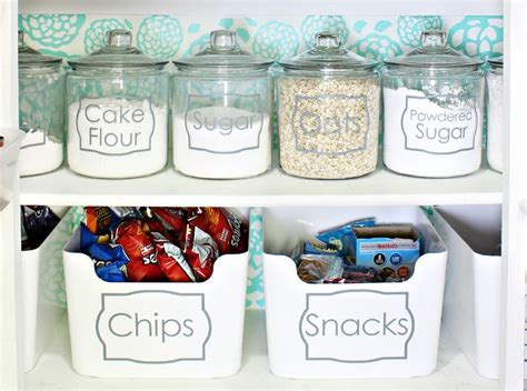 Vinyl Labeled Pantry Food Jars and Bins   Transitional