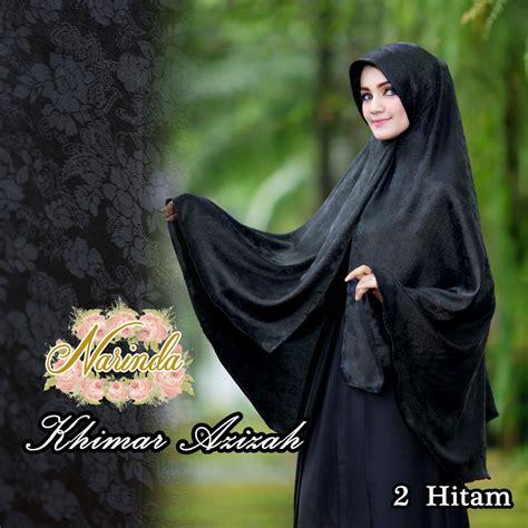 Stok Terbatas 117923 Adeeva Syari Hitam khimar azizah by narinda pusat grosir jilbab modern