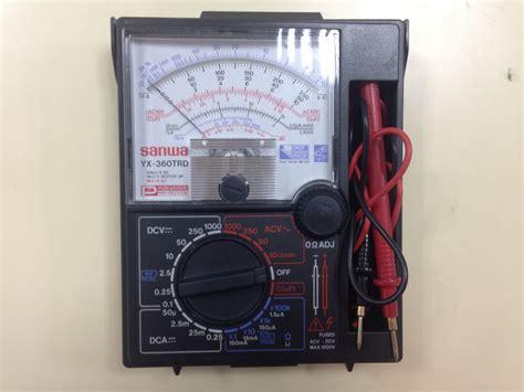 Multimeter Sanwa Analog year 1 laboratory electrical and electronic engineering programme ukm